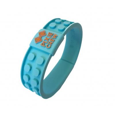 Creative pixelated bracelet turquoise - face