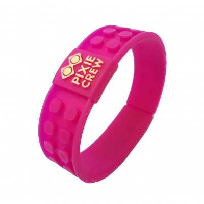 Creative pixelated bracelet fuchsia - unicorn