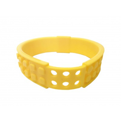 Creative pixelated bracelet yellow