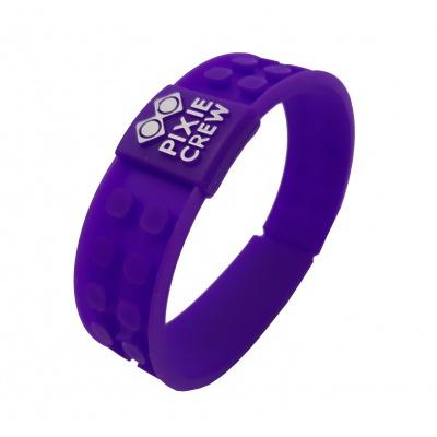 Creative pixelated bracelet purple Hello Kitty