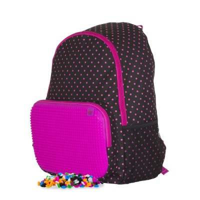Creative pixel backpack for spare time activities black/fuchsia PXB-02-L15