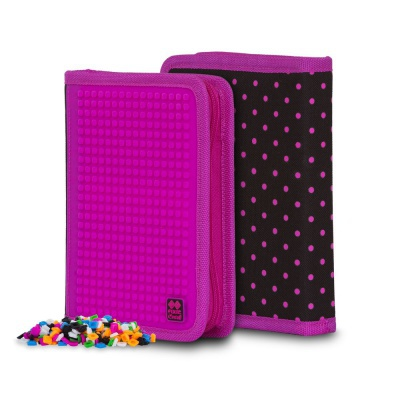 Creative school pixel pencil case fuchsia/black PXA-04-L15