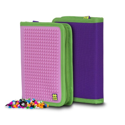 Creative school pixel pencil case purple/pink PXA-03-F17