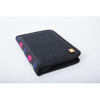 Creative pixelated school pencil case multicoulored checkered PXA-04-Y24