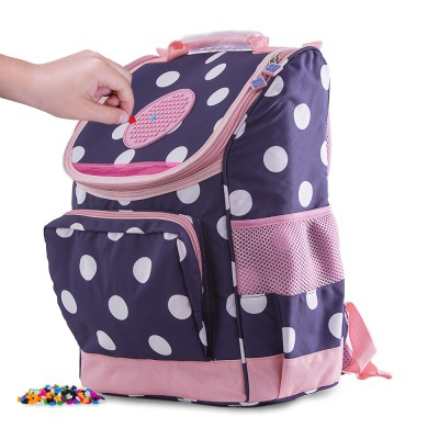 School bag PXB-22-84 blue with polka dots