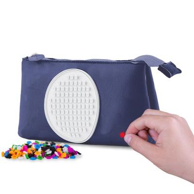 Creative pixelated school pencil case blue PXA-01-85