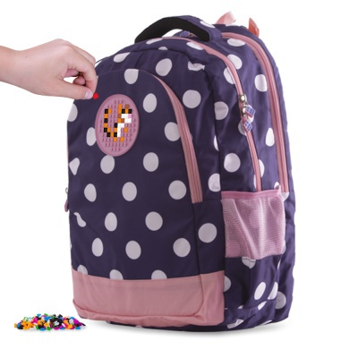 School bag PXB-06-84 blue with polka dots