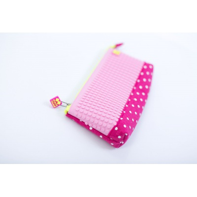 Creative school pixel pencil case fuchsia/pink PXA-01-F15