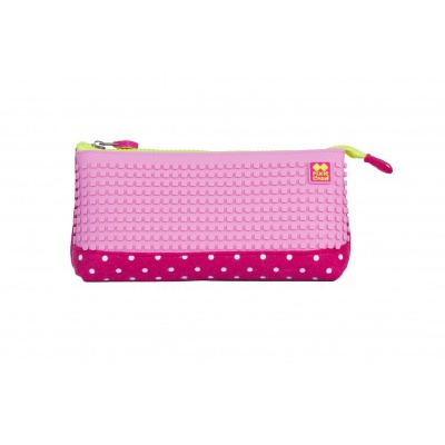 Creative school pixel pencil case fuchsia/pink PXA-01-F15