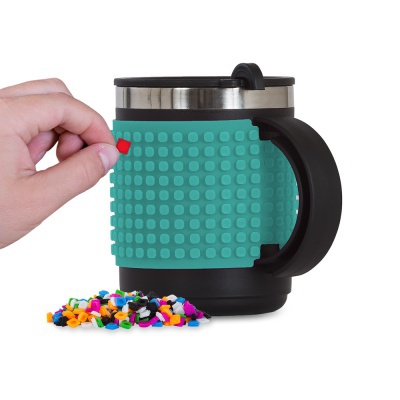 Creative pixelated cup turquoise PXN-02-09